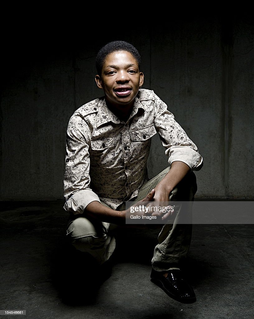 Controversial gospel singer Lundi Tyamara poses for a portrait on April 18, 2012, in Johannesburg, South Africa.