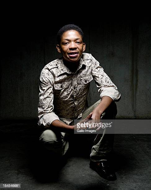 Controversial gospel singer Lundi Tyamara poses for a portrait on April 18 in Johannesburg South Africa
