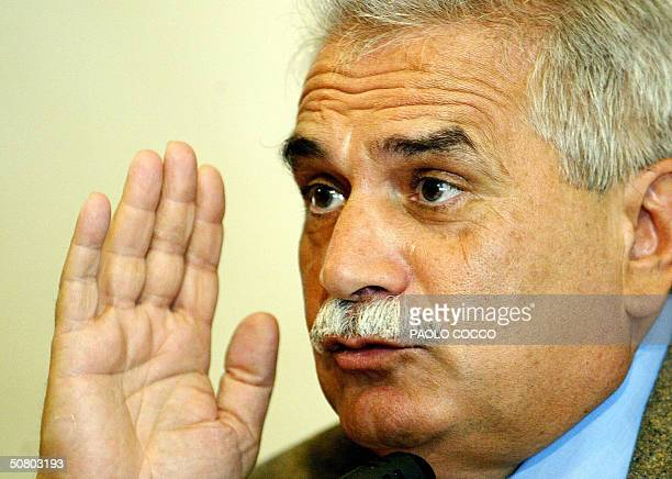 Controversial Italian embryologist Severino Antinori addresses a news conference in Rome 05 May 2004 Three babies were born in the world thanks to...