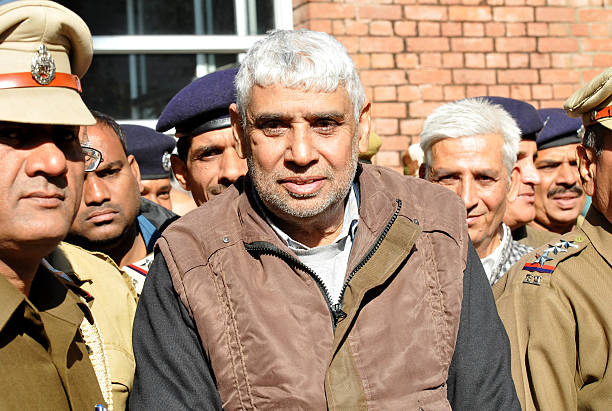 Controversial selfstyled spiritual leader Rampal produced in Panjab Haryana High Court on December 23 2014 in Chandigarh India 63yearold Rampal was...