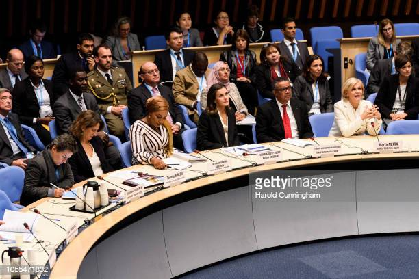 Convener of Mission 2020 Christiana Figueres, Spain Minister for Ecological Transition Teresa Ribera, Second Lady of the Republic of Ghana Samira...