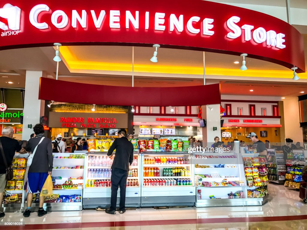Convenience Store at Cancun International Airport, Mexico : Stock Photo