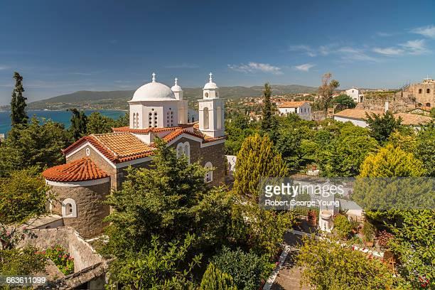 convent church, koroni, peloponnese, greece - messenia fotografías e imágenes de stock