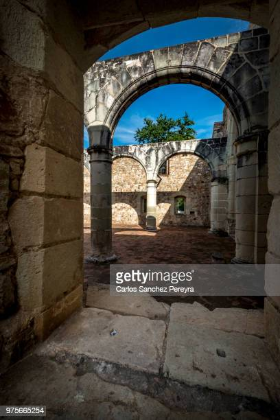 convent in oaxaca - cuilapan stock photos and pictures