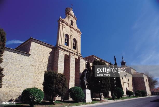Convent of La Encarnacion Avila Facade of the temple that harbors a museum dedicated to Santa Teresa de Jesus born in this city in 1515