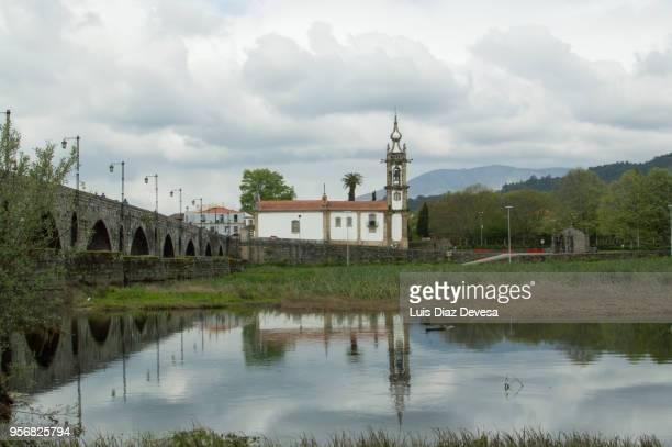 convent of san antonio church, 15th century. of ponte de lima - nonnenkloster stock-fotos und bilder