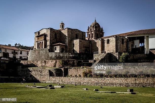convent of santo domingo, korikancha, in cusco, peru - convent stock photos and pictures