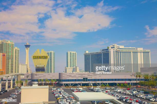 Convention center, hotels and observation tower in Las Vegas