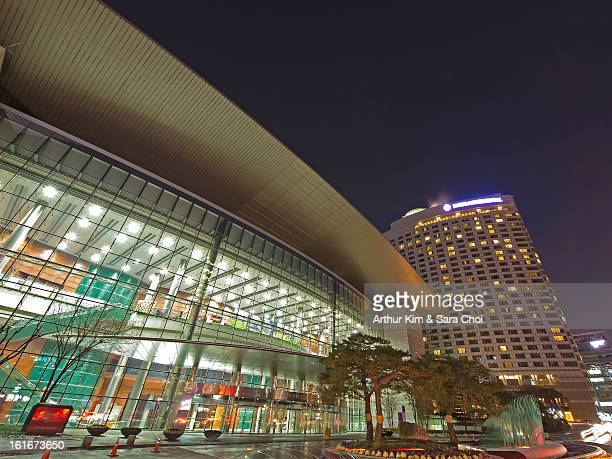 coex convention center in seoul, south korea - convention center stock pictures, royalty-free photos & images