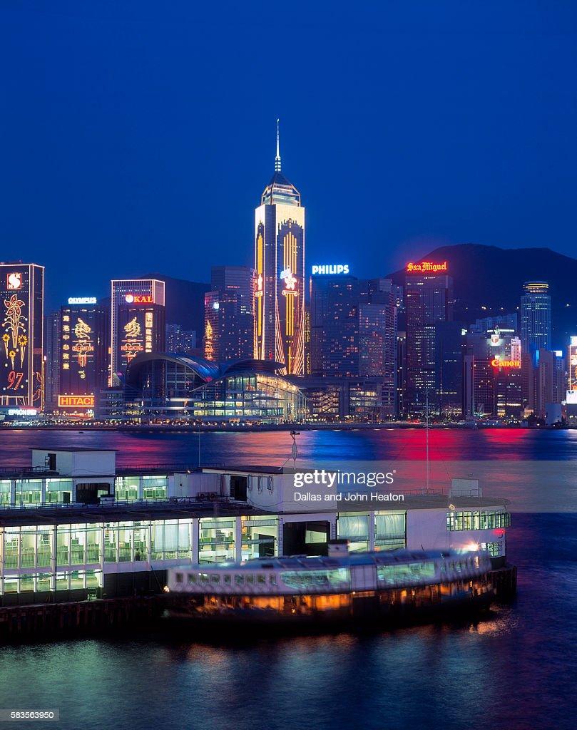 Convention Centre, Victoria Harbor, Wanchai, Hong Kong, China : Stock Photo