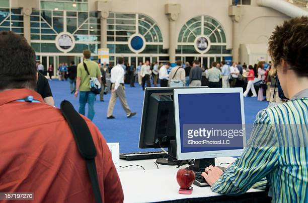 convention, trade show & expo - tradeshow stock pictures, royalty-free photos & images