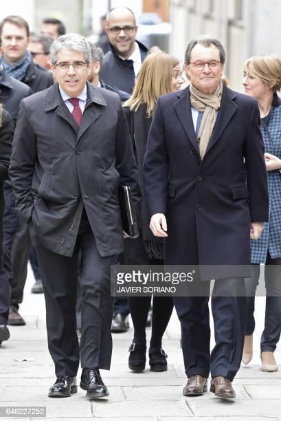 Convergencia Democratica de Catalunya deputy Francesc Homs and former President of the Catalan Government and leader of Partit Democrata Europeu...