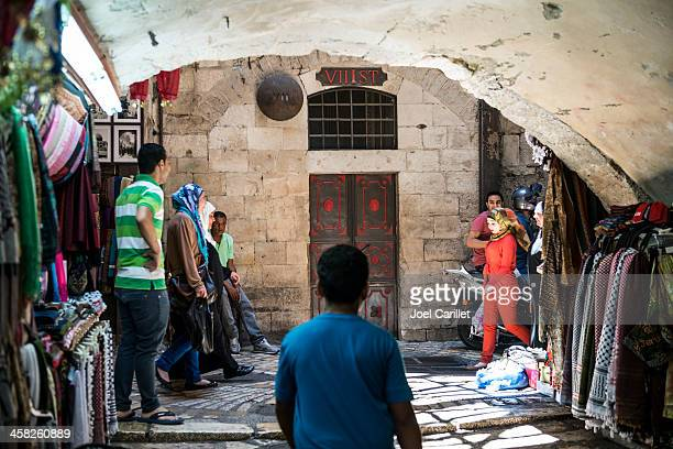 converging on the via dolorosa station vii - stations of the cross stock pictures, royalty-free photos & images