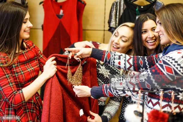 conversation of lucky and satisfied girls during shopping - womenswear stock pictures, royalty-free photos & images