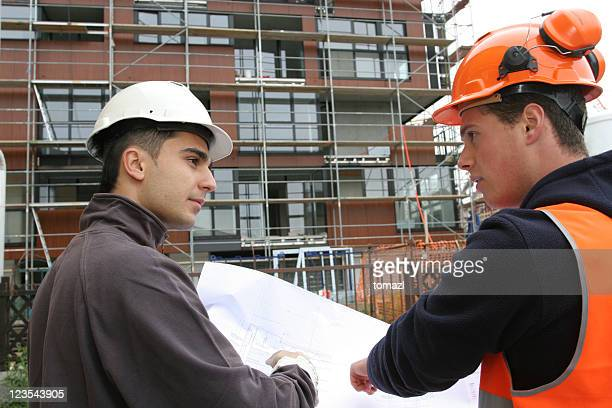 Conversation on construction site