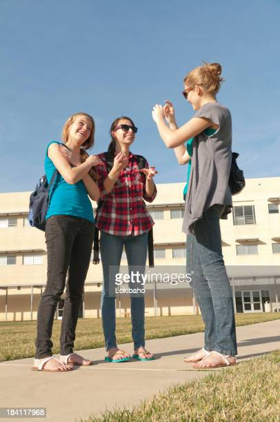 ASL conversation on school campus