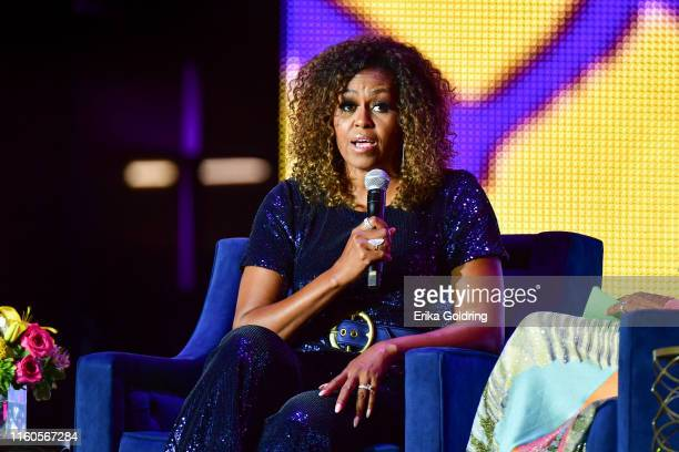 Conversation with Michelle Obama takes place during the 2019 ESSENCE Festival at the Mercedes-Benz Superdome on July 06, 2019 in New Orleans,...