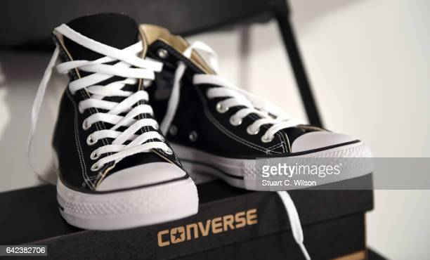 Converse shoes backstage at the Sadie Williams show during London Fashion Week February 2017 collections on February 17 2017 in London England