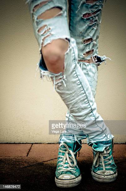 converse with  jeans - lyra stock photos and pictures