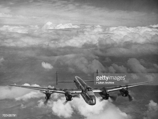 A converted Avro Lancaster heavy bomber the Avro 683 Lancastrian MkI passenger airliner of the BOAC British Overseas Airways Corporation registration...