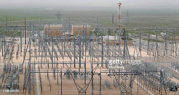 A converter station which converts power from AC to DC for transmission is seen at the Intermountain Power Plant outside Delta Utah US on Monday June...