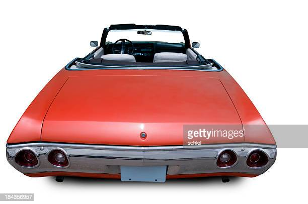 convertible from 1970 - rear view - 1970s muscle cars stock pictures, royalty-free photos & images