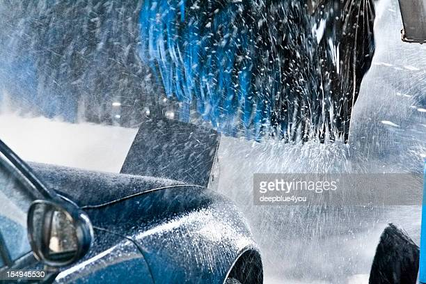 Convertible going through Car Wash