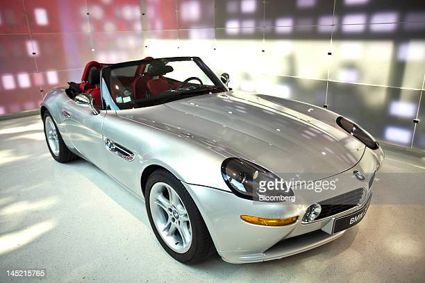 Z8 convertible produced by Bayerische Motoren Werke AG is seen on display inside the company's new brand store in Paris France on Wednesday May 23...