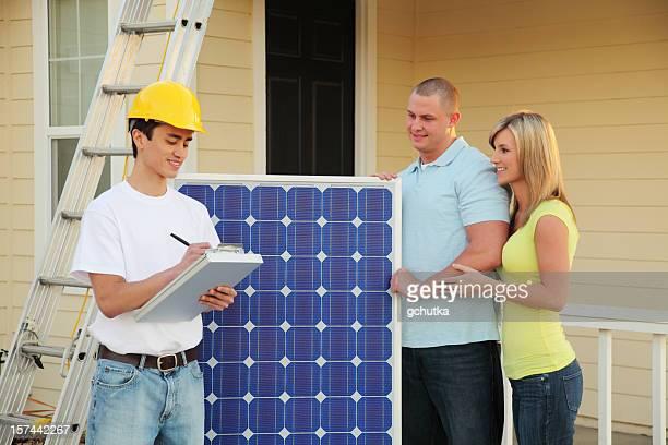 Conversion de la maison pour Solar de l'électricité