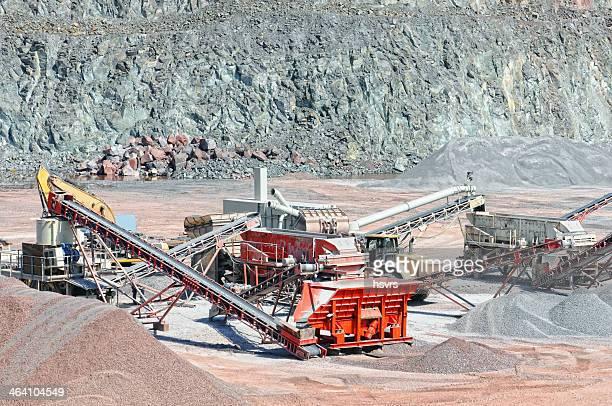 Boot in quarry Tagebau der Feuerstelle