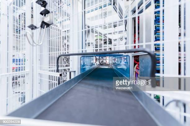 Conveyor belt in factory