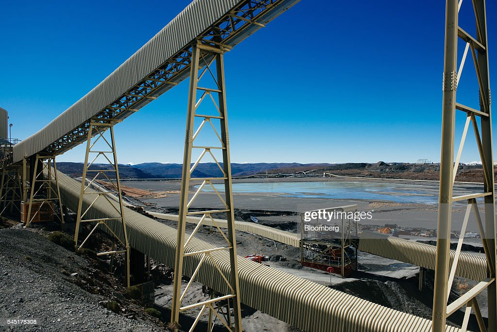 Conveyor belts carry diamond bearing rock ore, also known as    News