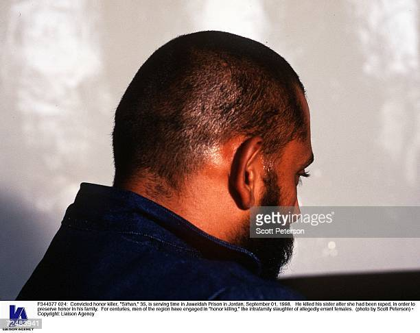 Convicted honor killer 'Sirhan' 35 is serving time in Juweidah Prison in Jordan September 01 1998 He killed his sister after she had been raped in...