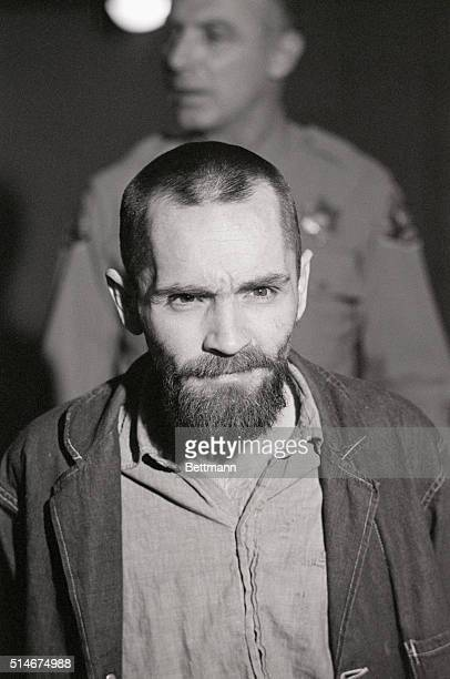 Convicted murderer Charles Manson shows up to his penalty trial with his long hair cut off