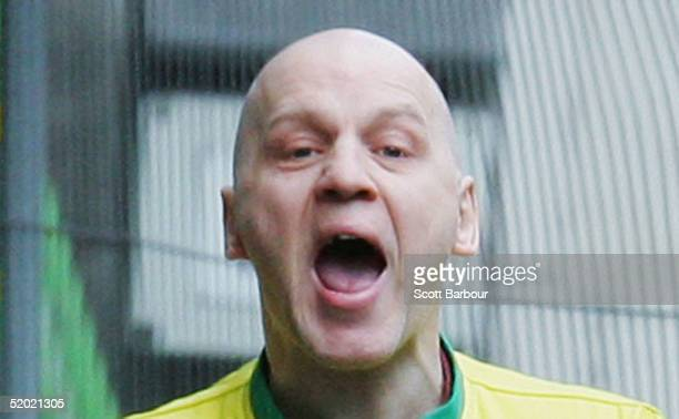 Convicted murderer Michael Stone yells as he departs from the Court of Appeal, January 19, 2005 in London, England. Stone, who was found guilty in...