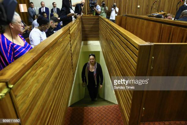 Convicted racist Vicki Momberg during sentencing at the Randburg Magistrates Court on March 28 2018 in Randburg South Africa Momberg was sentenced to...