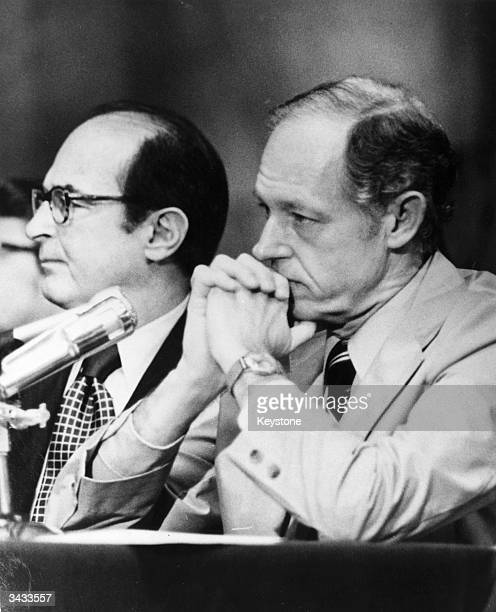 Convicted Watergate conspirator E Howard Hunt on the witness stand for the first time He directly involved White House Special Counsel Charles Colson...