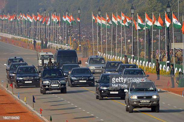 VIP convoy during 64th Republic Day celebrations in New Delhi on Saturday
