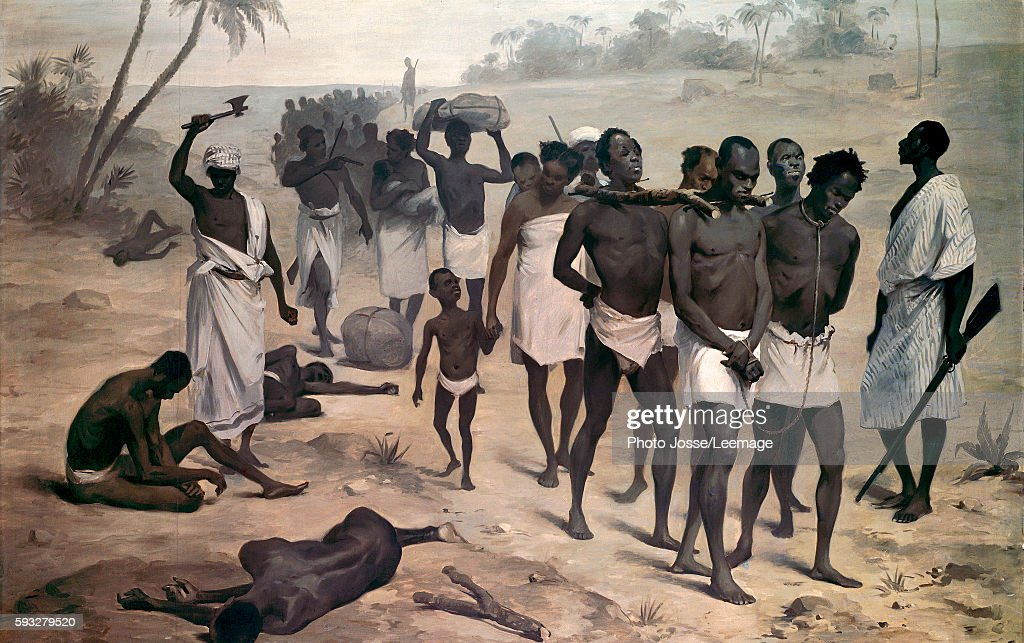 Convoy of slaves in Africa : News Photo