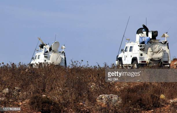 Convoy of the United Nations peacekeeping force patrols in the vicinity of the Kfar Kila village in southern Lebanon, after reports of clashes in the...