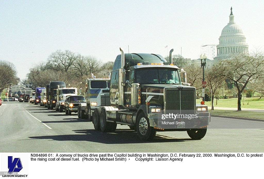Truckers Protest in Washington DC : News Photo