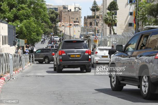 A convoy transporting Israeli Prime Minister Benjamin Netanyahu arrives to the district court of Jerusalem for a longdelayed corruption trial on May...
