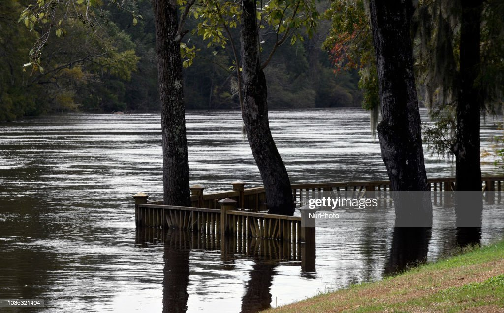 Conway, South Carolina, United States - The flooded Conway