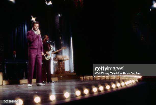 Conway Twitty performing on the ABC tv special 'The 1974 Country Music Awards'