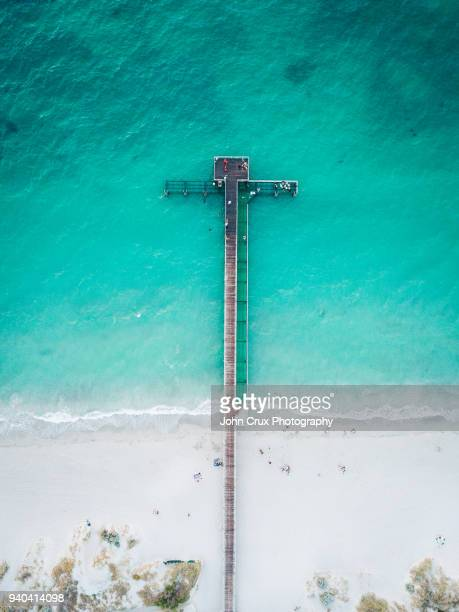coogee beach jetty - pier stock pictures, royalty-free photos & images
