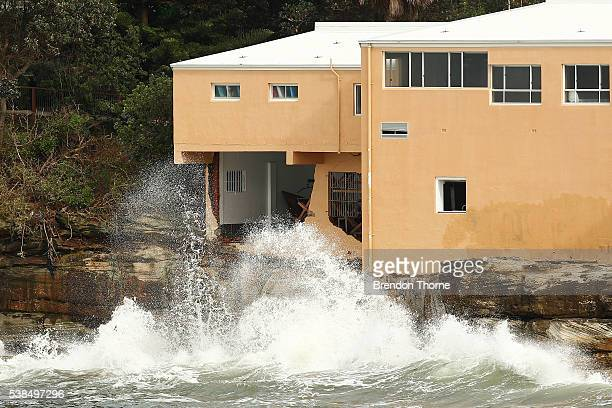 Coogee Surf Lifesaving Club shows signs of damage on June 7 2016 in Sydney Australia Three people have been confirmed dead following floods in parts...