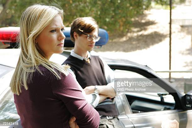 J Cook and Matthew Gray Gubler of the CBS series CRIMINAL MINDS