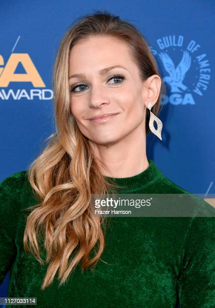 A J Cook attends the 71st Annual Directors Guild Of America Awards at The Ray Dolby Ballroom at Hollywood Highland Center on February 02 2019 in...