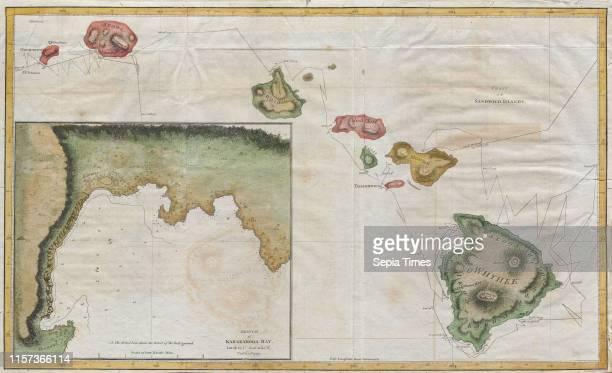 1785 Cook Bligh Map of Hawaii
