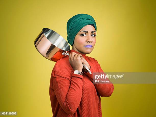 Cook columnist food writer and winner of the BBC Bake Off 2015 Nadiya Hussain is photographed for the Observer on May 4 2016 in London England